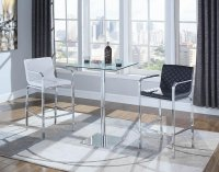 104877 - Contemporary White Bar Stool