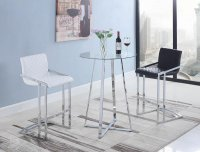 104917 - Contemporary White Bar Stool