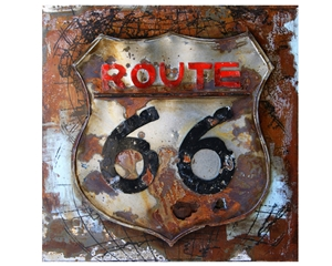 02-0006 Route 66 Metal